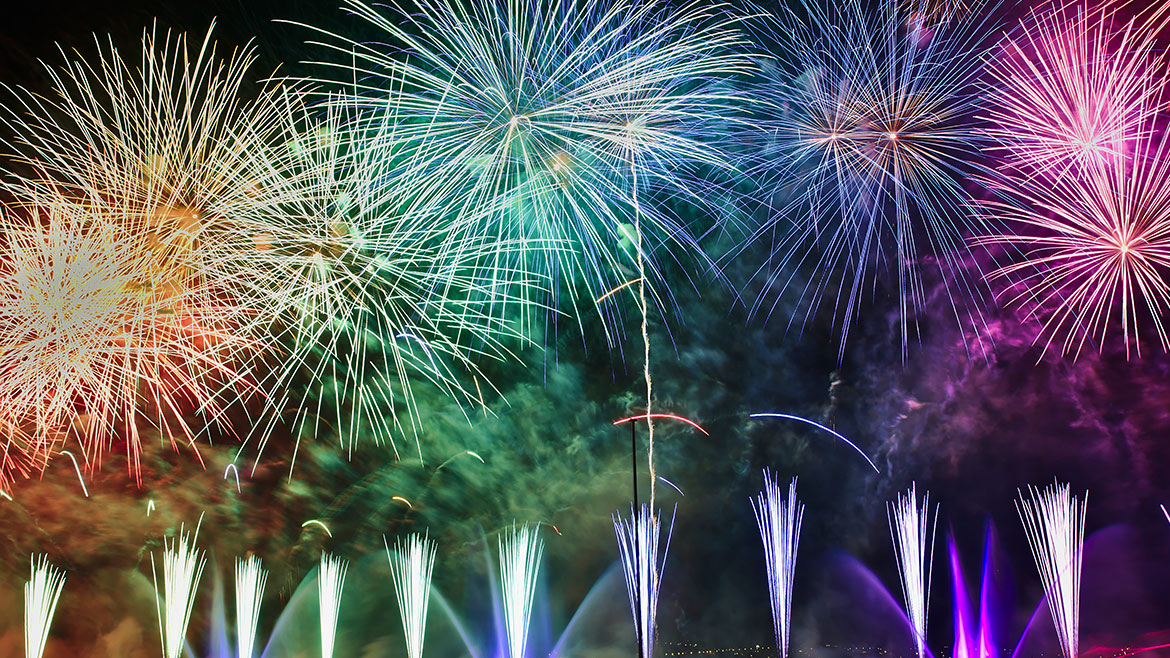 The brightest Firework displays near Exeter 2019